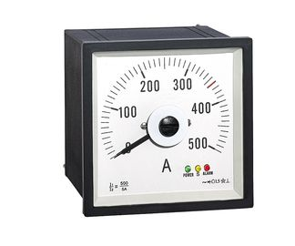 China Analoger Platten-Weitwinkelamperemeter 96*96mm, analoge Platten-Meter Wechselstroms Ampere mit Rectifer Ct500/5a distributeur